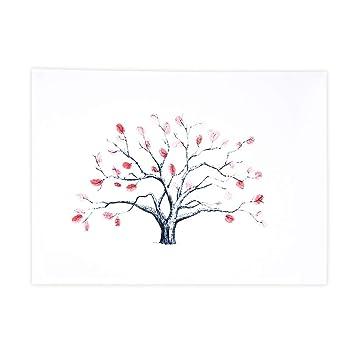 Berühmt DIY Hochzeit Fingerabdruck Baum Leinwand Unterschrift Gästebuch @QN_39