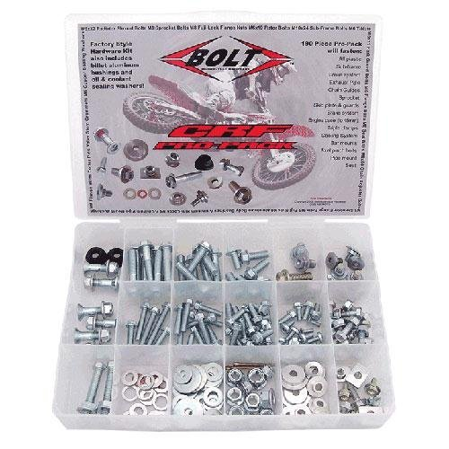 (Bolt MC Pro-Pack Factory Style Hardware Kit Steel for Honda CRF70F CRF80F)