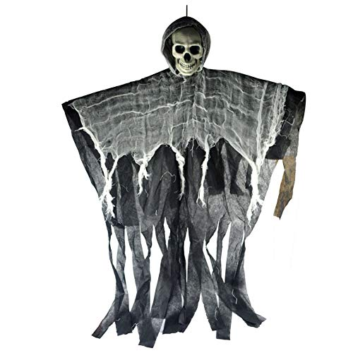 856store Big Promotion Halloween Hanging Ghost Haunted House Grim Reaper Horror Props Bar Club Decor Random -