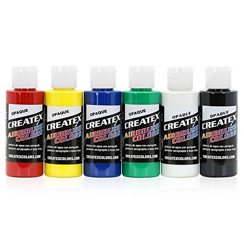 Createx Colors 5803-00 2 oz Opaque Airbrush Paint Set 2 Ounce ()