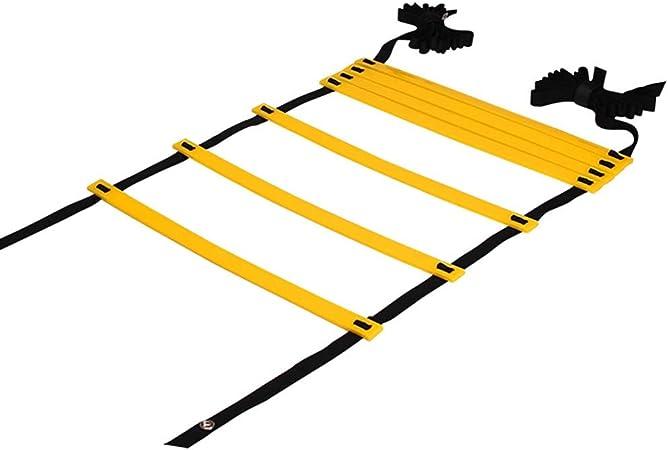 Escalera de velocidad Equipo De Entrenamiento De Speed Speed Agility Training, Coordinación De Velocidad y Equipo De Entrenamiento Juego De Entrenamiento De Escalera con Carry Bag (Tamaño : 9M): Amazon.es: Hogar