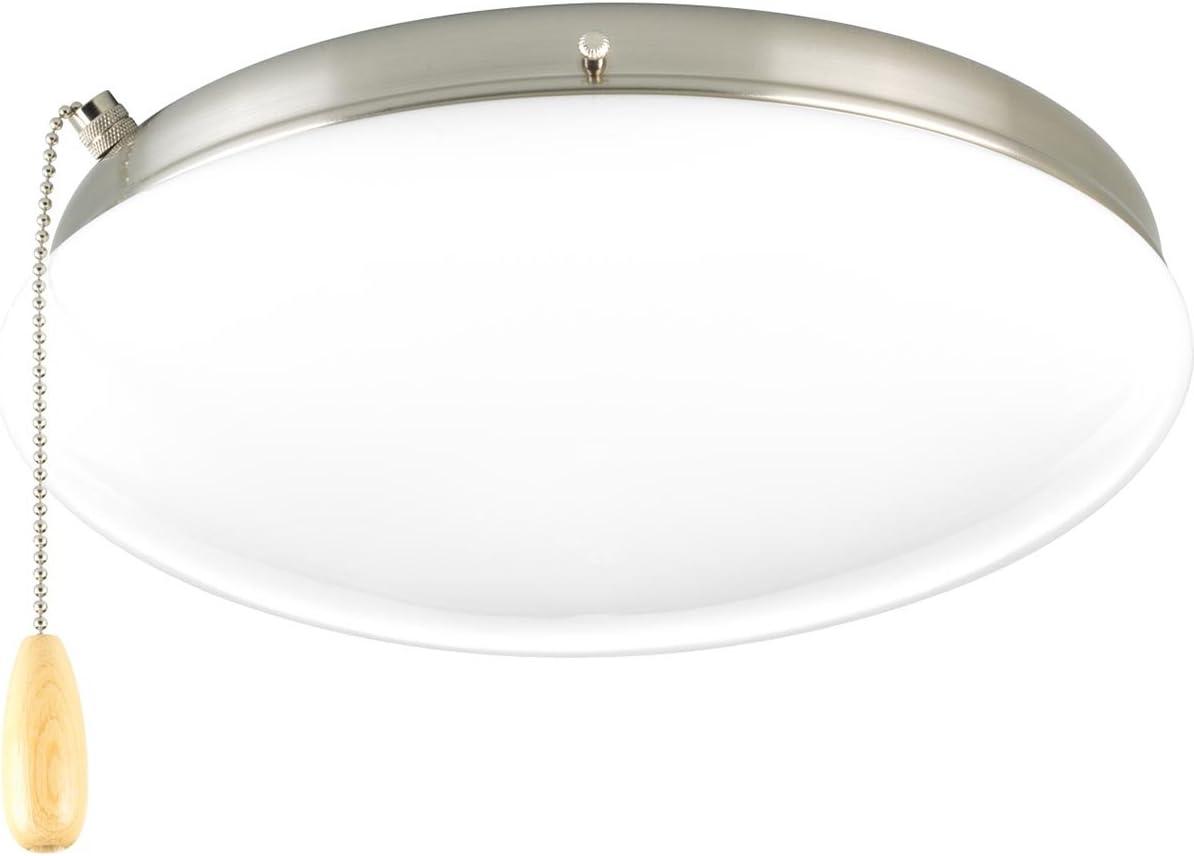 Progress Lighting P2659-09 AirPro One DC LED Ceiling Fan Light Kit Brushed Nickel