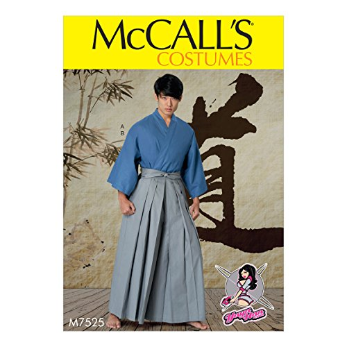 McCall Patterns M7525OSZ Kimono and Pleated Pants, S-M-L-XL-XXL by McCall Patterns