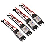 Dreamyth New 4pcs HP SimonK 30A ESC Brushless Speed Controller BEC 2A fo F450 F550 Quadcopter (Black)