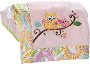 Kids Line Dena Happi Tree Embroidered Boa Blanket, Pink (Discontinued by Manufacturer)