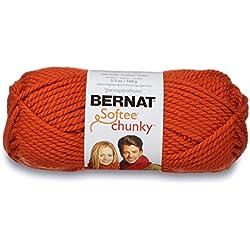 Bernat Softee Chunky Yarn, Pumpkin, Single Ball