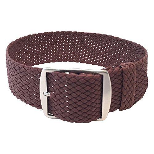 Wrist And Style Perlon Watch Strap - Light Brown   20mm