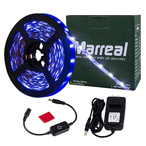Marreal LED Strip Lights Touch dimmer SMD 3528 16.4 Ft 300 led - Mirrors For Large Bathroom Tape