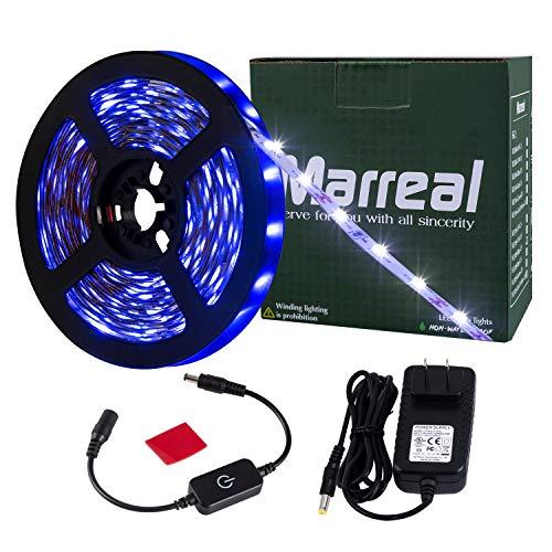 Marreal LED Strip Lights Touch dimmer SMD 3528 16.4 Ft 300 led -