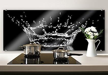 Paraschizzi SP43462, in vetro con immagine decorativa con gocce d ...