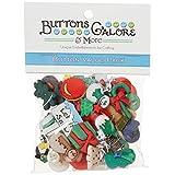 Buttons Galore Botones de abundancia 50-Paquete económico botón de Navidad