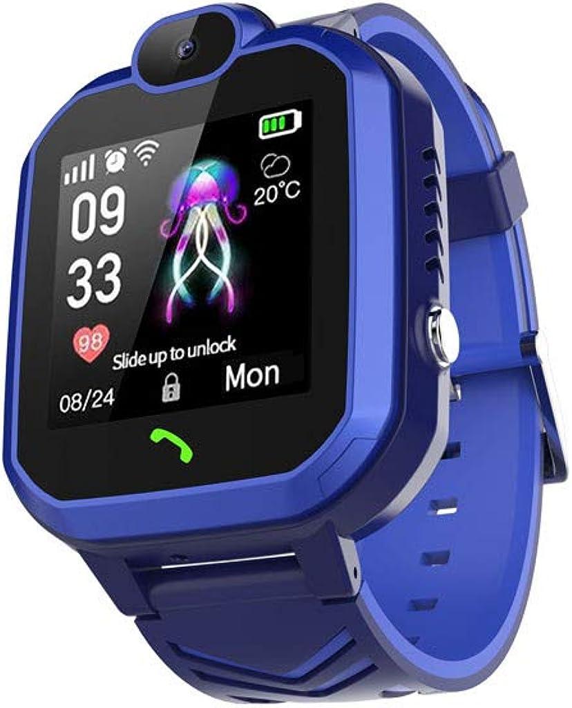 Smartwatch Reloj Inteligente con GPS para niños,Reloj Inteligente antipérdida,Adecuado para niños y niñas,Resistente al Agua IP67,Llamada bidireccional,Huella histórica,Ayuda de Emergencia