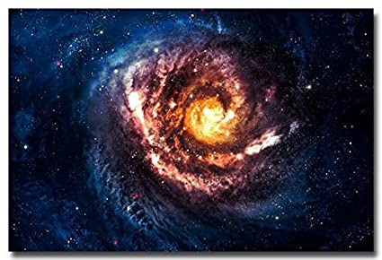 Tomorrow Sunny Outer Space Black Hole Galaxy Stars Art Silk Poster Print 24x36quot