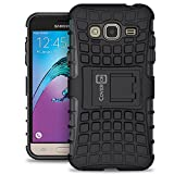 Samsung Galaxy Express Prime Case, Galaxy Sky Case, Galaxy Amp Prime Case, CoverON [Atomic Series] Hybrid Armor Cover Tough Hard Kickstand Phone Case for Samsung Galaxy Express Prime - Black