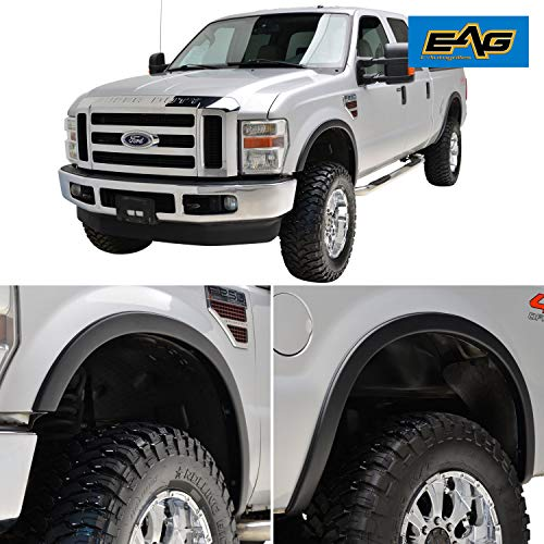 EAG Fender Flares Satin Black Styline Series Fit for 08-10 Ford ()