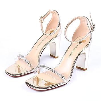 Avec Chaussures Tempérament Suhang Bold Argent Banquet Sandales FcKJl1