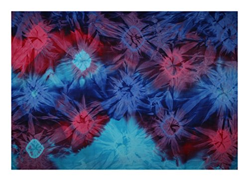 Sarong - Tie Dye Bursts - This Design but Brighter Colors, Assorted Only, Gift (Purple Burst Design)