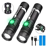 LED Torch, iToncs Torches Super Bright Powerful USB Rechargeable Torch Flashlight for Camping Hiking [2 Pack]