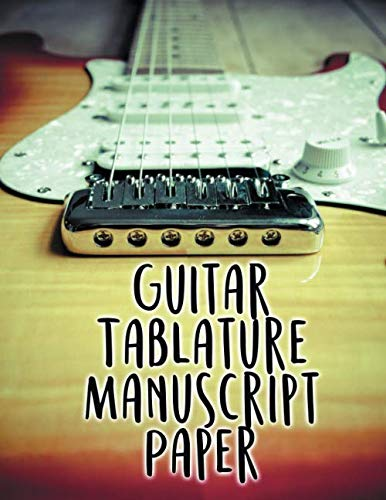 (Guitar Tablature Manuscript Paper: 5 Blank Chord Diagrams Seven 6-line Staves per page with 110 pages printed on both sides in an 8.5x11 size. )