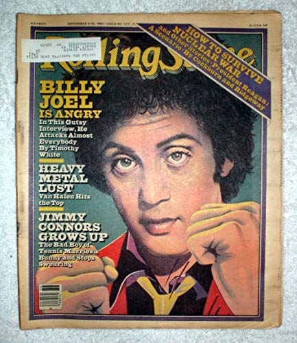Billy Joel - Rolling Stone Magazine - #325 - September 4, 1980 - Van Halen Hits The Top, Jimmy Connors, How to Survive Nuclear War articles