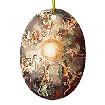 ornament decorations st peters bacillica rome italy oval christmas tree gift idea