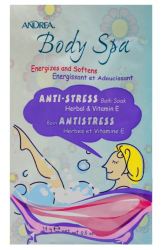 Andrea Body Spa Anti-stress Bath Soak - Herbal and Vitamin E, 0.5-Ounce (Pack of 72)