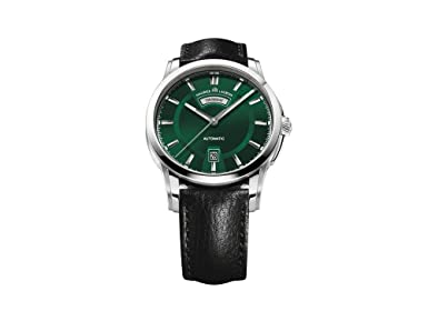 Maurice Lacroix Pontos Day Date Automatic Watch, Stainless steel, Green