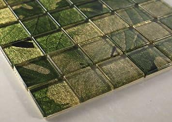 Spring 2x2 Green Glass Tile Amazoncom