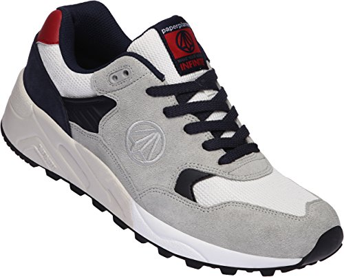 Paperplanes-1348 Sneakers Running Unisex Infinite Mesh Scarpe Bianco Grigio Navy