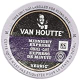 Van Houtte Midnight Express Single Serve Keurig Certified K-Cup pods for Keurig brewers, 24 Count