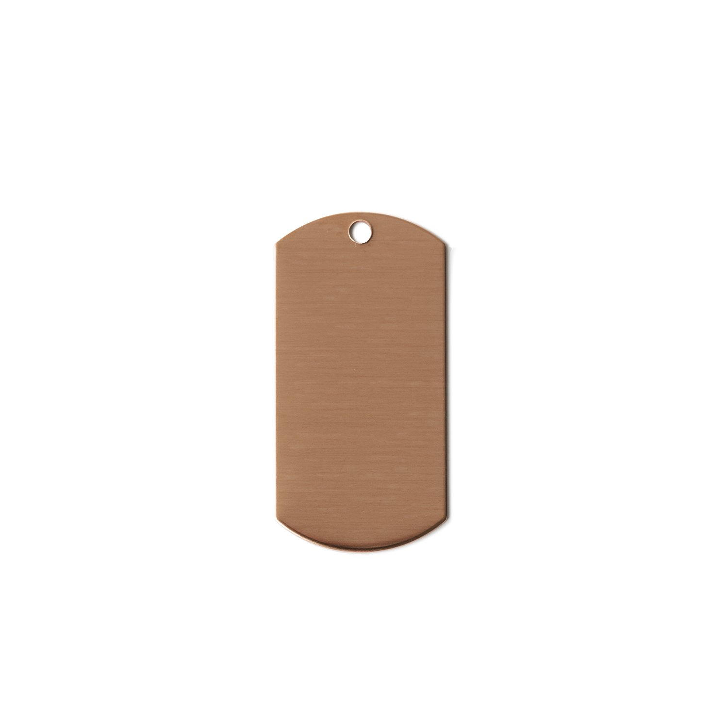 RMP Stamping Blanks, 1 X 2 Dog Tag w/ One Hole , 16 Oz. Copper, 24 Ga. - 10 Pack Rose Metal Products