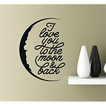 Amazoncom I Love You To The Moon Back Vinyl Wall Art