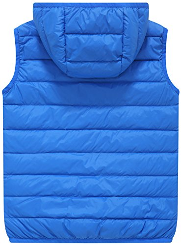 Vest Jacket Sleeveless Wantdo Lightweight Hooded Down Puffer Blue Sapphire Boy's Packable xYq8wT8XO