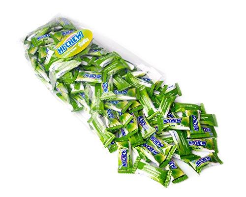 Hi Chew Candy - Bulk Flavored 25oz 130+ Individually Wrapped Morinaga Fruit Chews - Green -