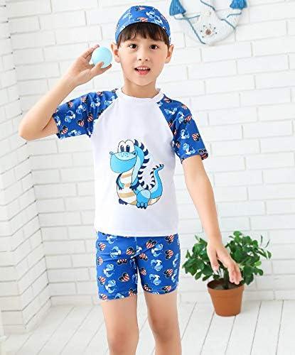 【姫洋服】 子供 男の子 キッズ 水着 スイムウエア 恐竜柄 通気性 可愛い ソフト 柔らかい 115-125cm