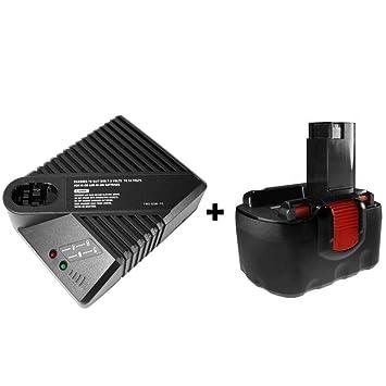Set Chargeur Batterie 18 V 2000 mAh Ni-Cd pour Bosch bat025 260733526 2607335278