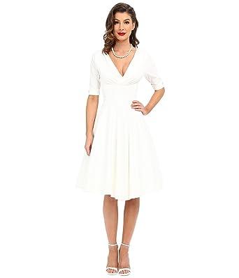 Unique Vintage Women\'s Plus-Size 1950S Pin Up Style Delores Retro Swing  Dress