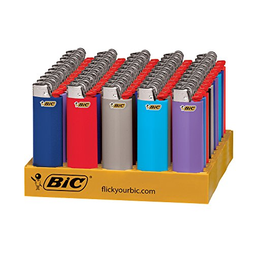 BIC Classic Lighter, Assorted Colors, 50-Count Tray -