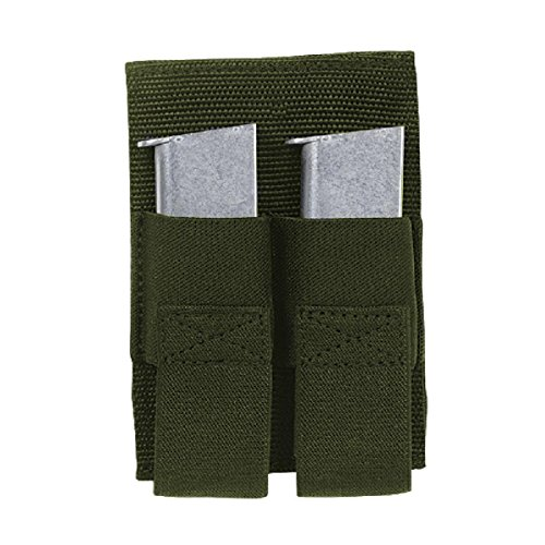 - VooDoo Tactical 20-0119004000 Removable Double Pistol Mag Pouch, OD