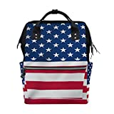Diaper Bags Backpack Mummy Backpack with USA Flag Travel Laptop Daypack