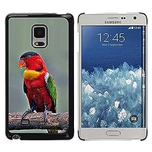 Caucho caso de Shell duro de la cubierta de accesorios de protección BY RAYDREAMMM - Samsung Galaxy Mega 5.8 9150 9152 - Branch Red Beak Wings