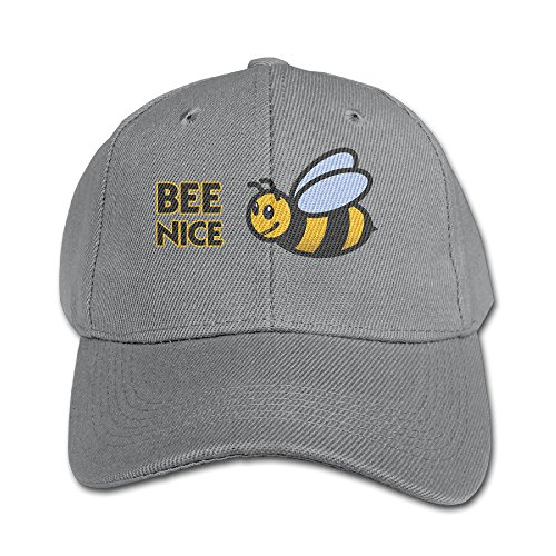 Aweson Bee Nice Bumble ChildrenPeaked Cap Ash ()