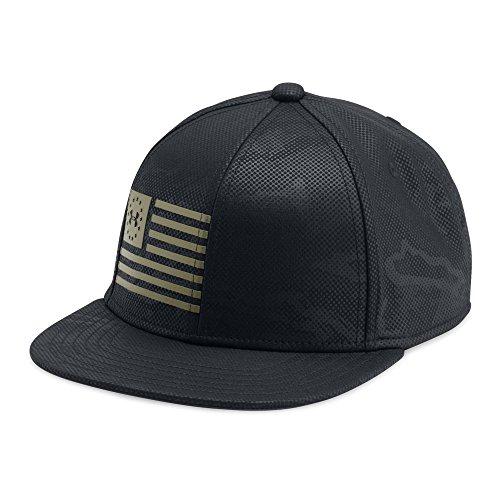 Under Armour Boys' Freedom Snapback Cap, Black/Marine Od Green, One - Beanie Snapback