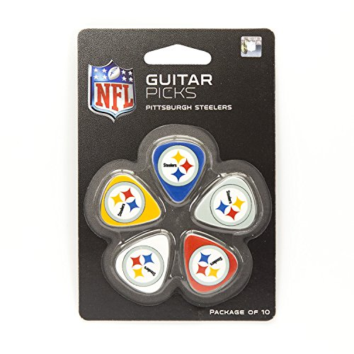 Woodrow Guitar by The Sports Vault NFL Pittsburgh Steelers Guitar Picks, 10 Pack