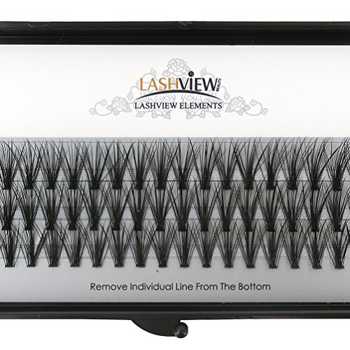 LASHVIEW 0.10mm 20 Root 12mm Medium Length Soft Individual Cluster Eyelashes Mink Fake Eyelashes Extension Handmade Grafting False Eyelashes Individual False Eyelashes Knot-free Natural Long