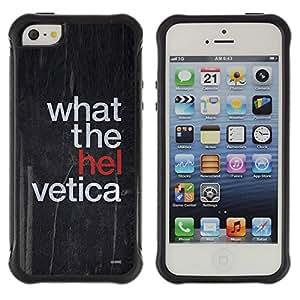 LASTONE PHONE CASE / Suave Silicona Caso Carcasa de Caucho Funda para Apple Iphone 5 / 5S / What The Hell Funny Quote Art Black Style