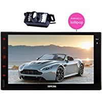 7 inch Android 5.1 Lollipop Car Radio Quad Core Double Din Head Unit with Parrot Autoradio Bluetooth Stereo system GPS Navigation HD Touchscreen Tablet support AUX 3G/4G WIFI CAM-IN Phone Link USB/SD