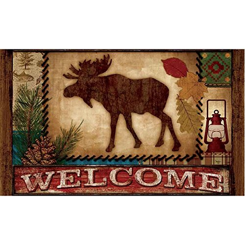 Vicky.Zheng Welcome Moose Doormat Custom Indoor/outdoor Bath and Home Decorative Doormat 23.6