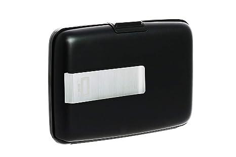 Ögon STC-Black Tarjetero Stockholm Money Clip Aluminio Anodizado Clip de Acero para Billetes Negro