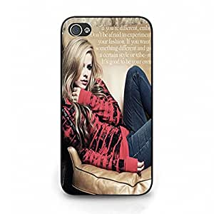 Fashionable Avril Lavigne Phone Case Cover For Iphone 4/4S Avril Stylish